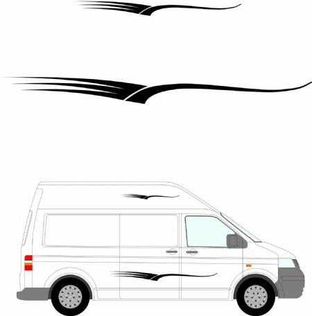 (No.232) MOTORHOME GRAPHICS STICKERS DECALS CAMPER VAN CARAVAN UNIVERSAL FITTING